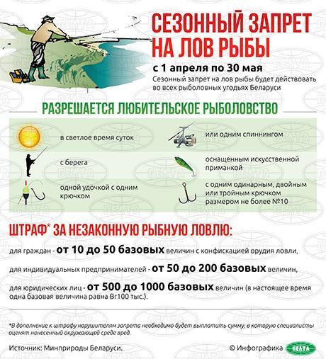 рыболовные запреты на 2016 в россии