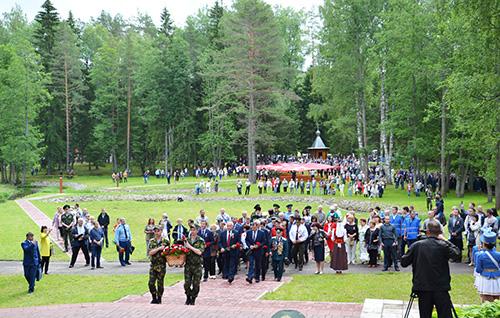 На стыке трёх государств – Беларуси, России и Латвии – в 58-й раз прошла встреча ветеранов Великой Отечественной войны