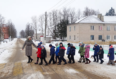 Школьники Шумилинской СШ №2 знают, как вести себя на дороге