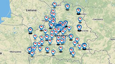 МЧС опубликовало карту результатов проверок мест с массовым пребыванием людей