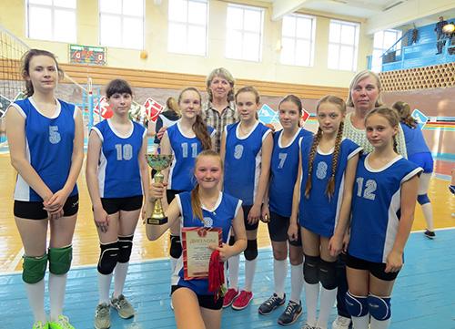 В Шумилино подрастают перспективные волейболистки