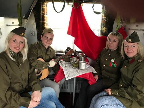 Шумилинская молодёжь приняла участие в трёхдневном марафоне «Поезд Памяти»