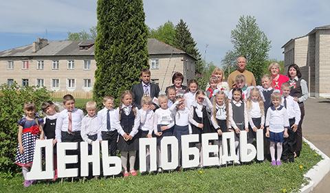 В честь Великой Победы ученики Шумилинской СШ №2 посадили деревья
