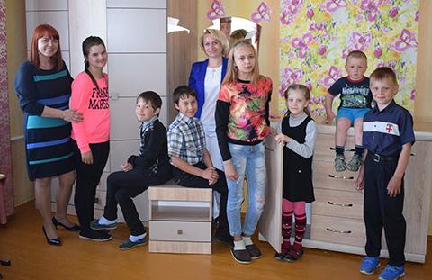 А мебель для социального приюта в Оболи купил «Беларусбанк»