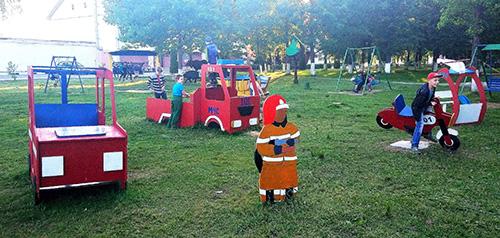 Іміджавы аб'ект МНС адкрыты ў цэнтральным парку Шуміліна