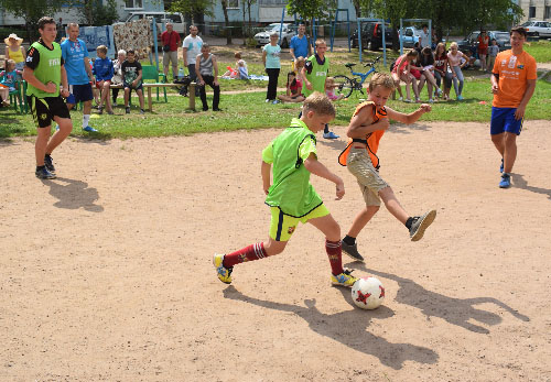 Турнир по футболу среди дворовых команд прошёл в Шумилино