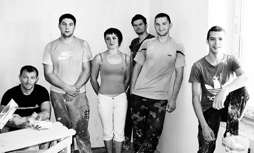 Молодые строители Шумилинской ПМК-70 показывают класс