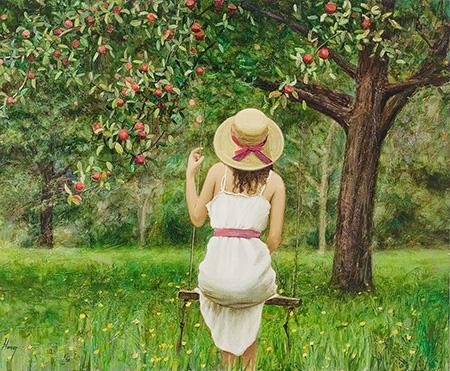 А яблони в школьном саду ещё плодоносят…