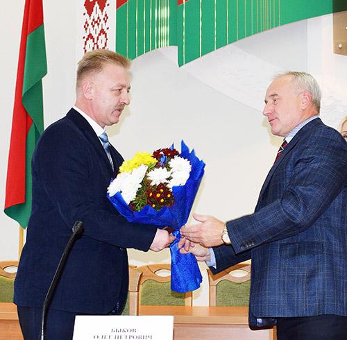 Олег Быков приступил к работе в качестве председателя Шумилинского райисполкома