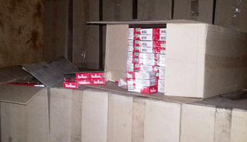 На «Фольксвагене» незаконно перевозили 15 тысяч пачек сигарет