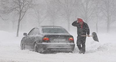 Оранжевый уровень опасности объявлен в Беларуси 17 января из-за сильного ветра