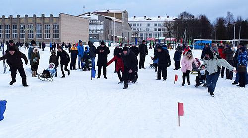 Спортивным задором и хорошим настроением Шумилино отметило  День снега