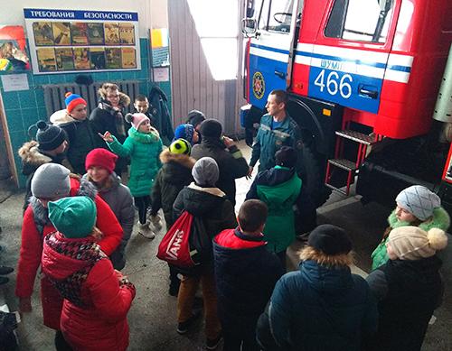 Встреча пионеров Шумилинской СШ №2 со спасателями получилась на все 100