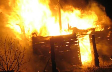 В Шумилино сгорела баня