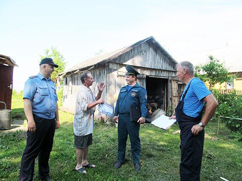 Рейдовая группа отправилась в деревню Новозароново
