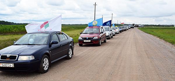 Патриотическим автопробегом отметил Шумилинский район своё 95-летие