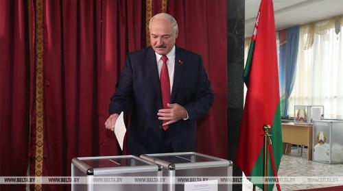 Лукашенко проголосовал на парламентских выборах