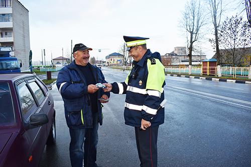 Шумилинская ГАИ организовала День вежливых пешеходов и водителей