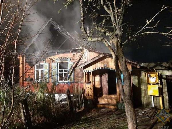 В Шумилино на пожаре погибла пенсионерка